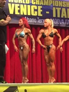Miss Fitness vas. Minna Paler ja hänestä seuraava Liisa Saks. Minna sijoittui sarjassaan toiseksi. Liisa oli kolmas.