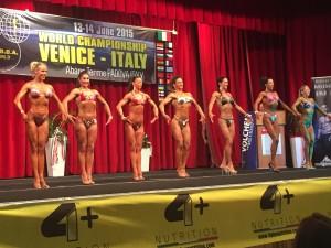 WABBA MM-kisat, Italia 2015 Shape-sarja. Suomalainen Linda Sonntag sijoittui toiseksi sarjassaan!