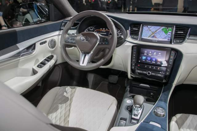 2019 Infiniti QX50 semi-autonomous SUV dashboard