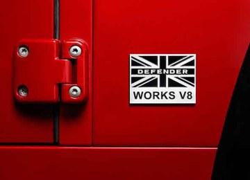 2018 Land Rover Defender Works V8 badge