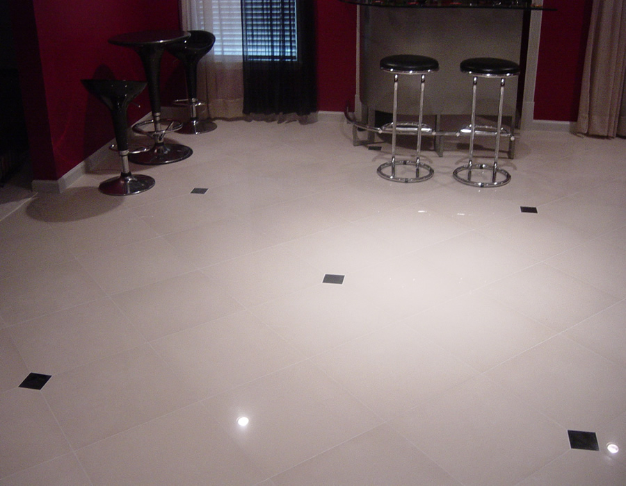 Custom Basement Floor Installation Travertine Installers