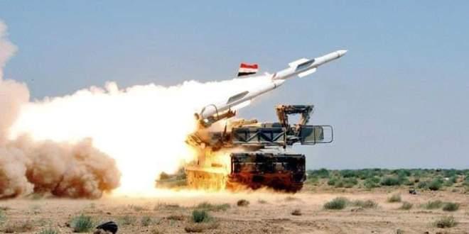 الدفاعات السورية تصدت بكفاءة عالية لعدوان جوي إسرائيلي ؟!!