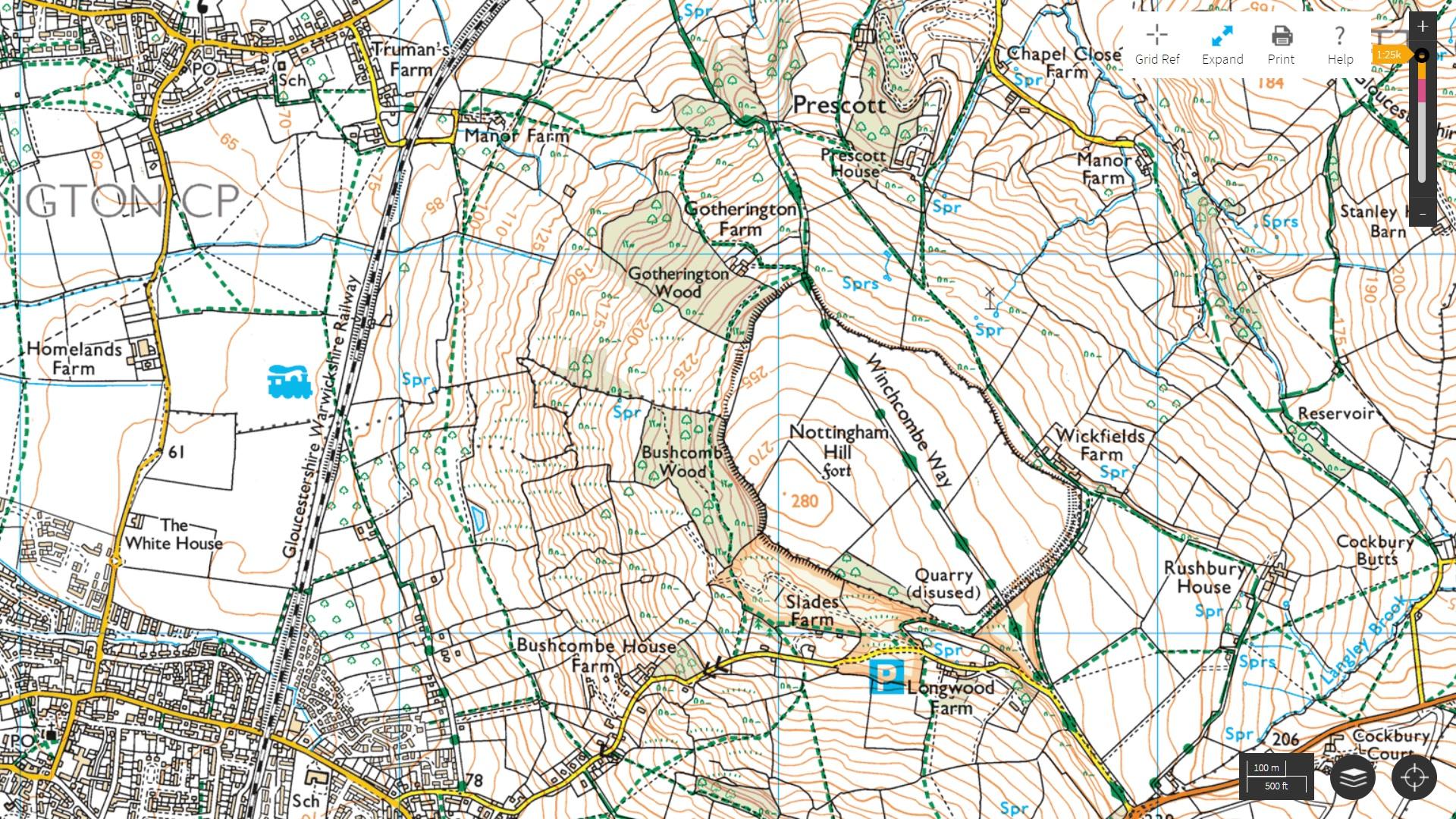 nottingham hill cotswold map uk landscape photography. Black Bedroom Furniture Sets. Home Design Ideas