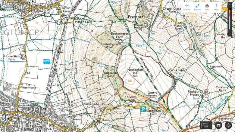 nottingham hill map