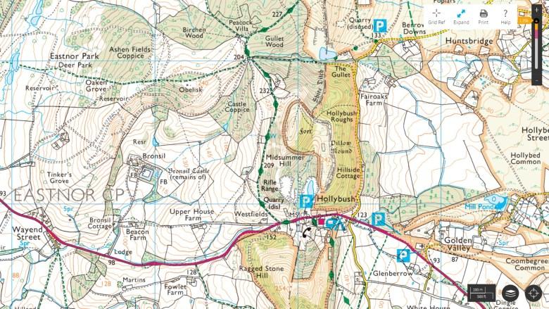 south malvern hills map