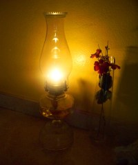 Our Kerosene Lamp  Suz and Tell