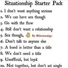 situationship-starter-pack