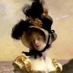 Close-up of painting, Portrait of a Woman--François Flameng