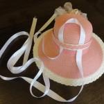 Hat 2 loosen band and loop ribbon under