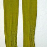 french acid green silk stockings