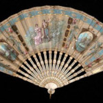 Battoir fan, 1800-1830. Silk, ivory, and metal. National Trust Collections, UK.