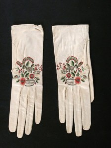 Dudmaston National Trust (Claire Reeves) -- Embroidered kid gloves, circa 1800-1830