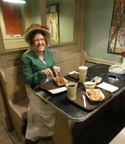 Regency Lady has a Chili Dog: Author Suzan Lauder in Louisville, KY.