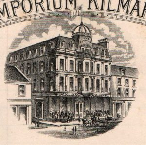 The original Lauder's Emporium, from a billhead circa 1903. This building was destroyed by fire in 1923.