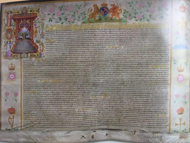 Charter 1585 f.1