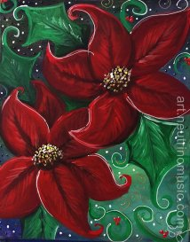 Acrylic Christmas Poinsetta