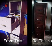 Metal File Cabinet Upgrade by Suzanna