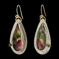 Watermelon Tourmaline Earrings | Suzanne Brown Jewelry