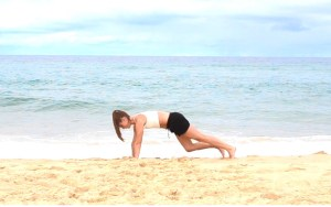 Strand work-out: mountain climbers