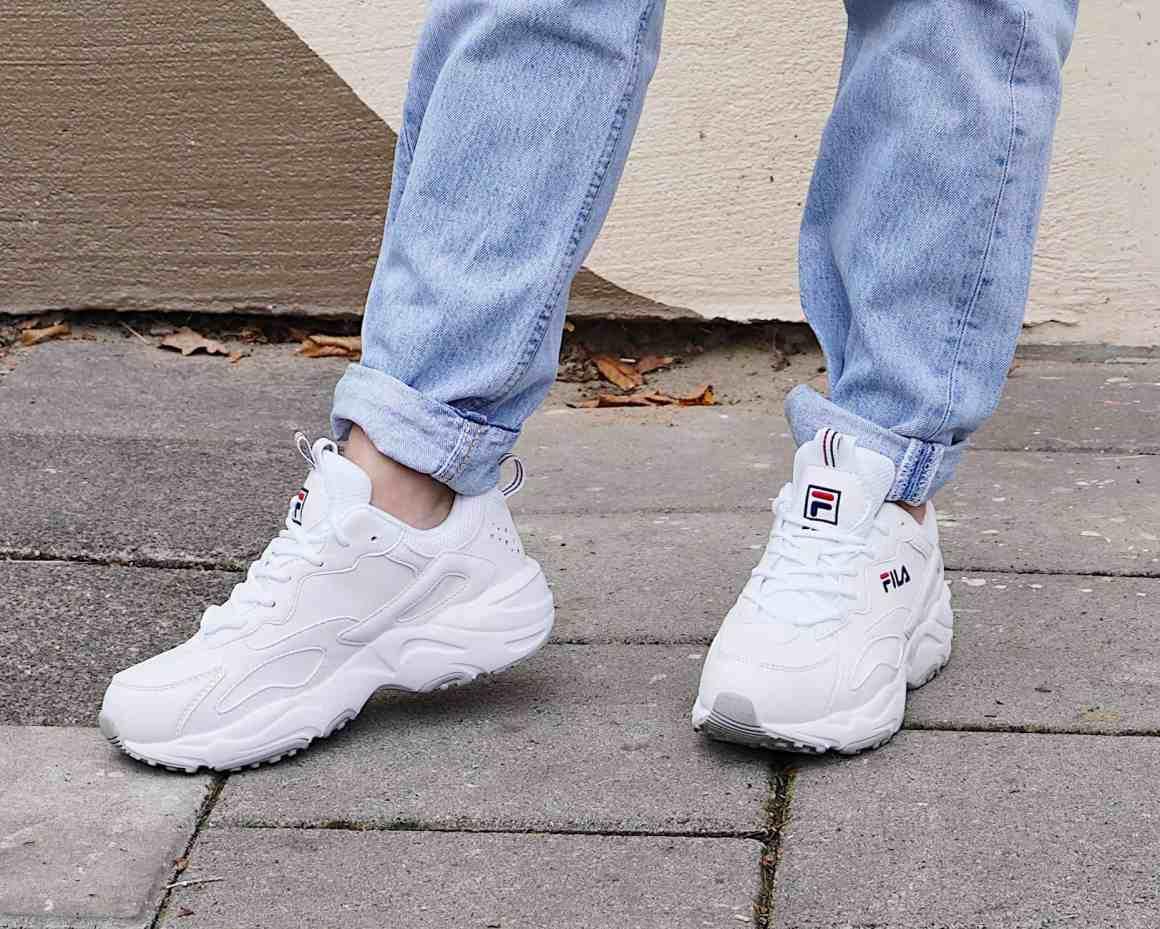 fila sneaker wit ray tracer low dames dad sneaker
