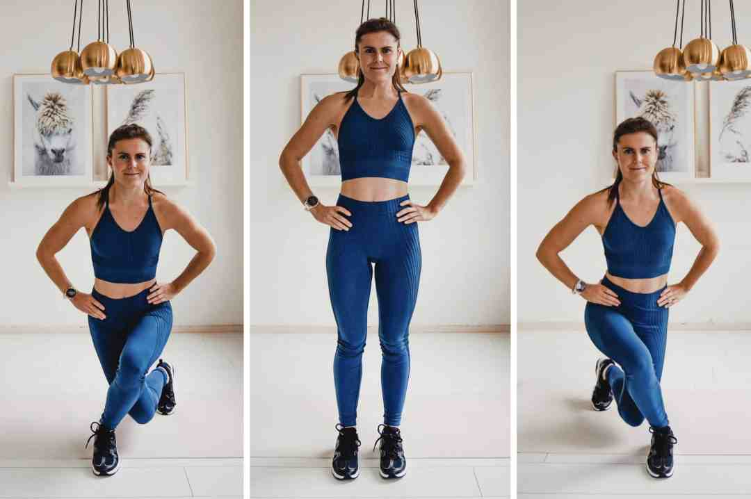 cross lunges home workout