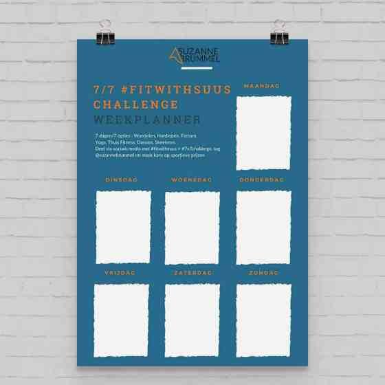 weekplanner fitwithsuus challenge