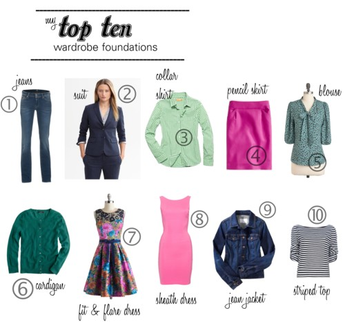 Top Ten Wardrobe Foundations