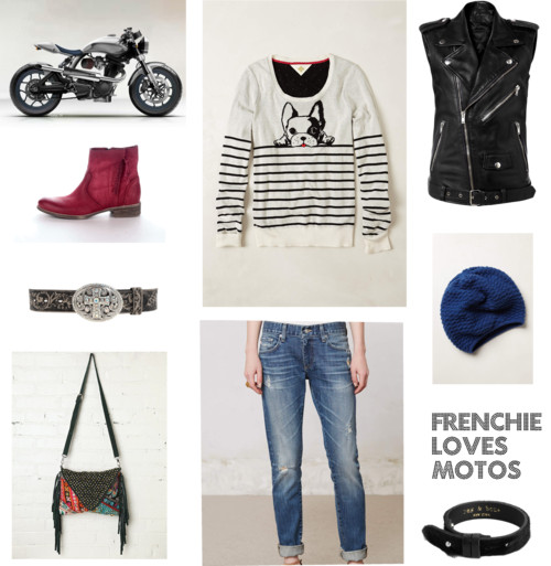 Frenchie Loves Motos