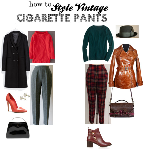 How To Style Vintage Cigarette Pants