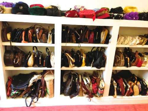 How to shop for handbags at estate sales. What to expect at estate sales.