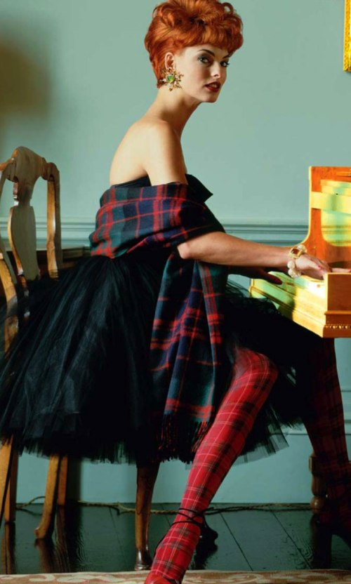 How to wear plaid.