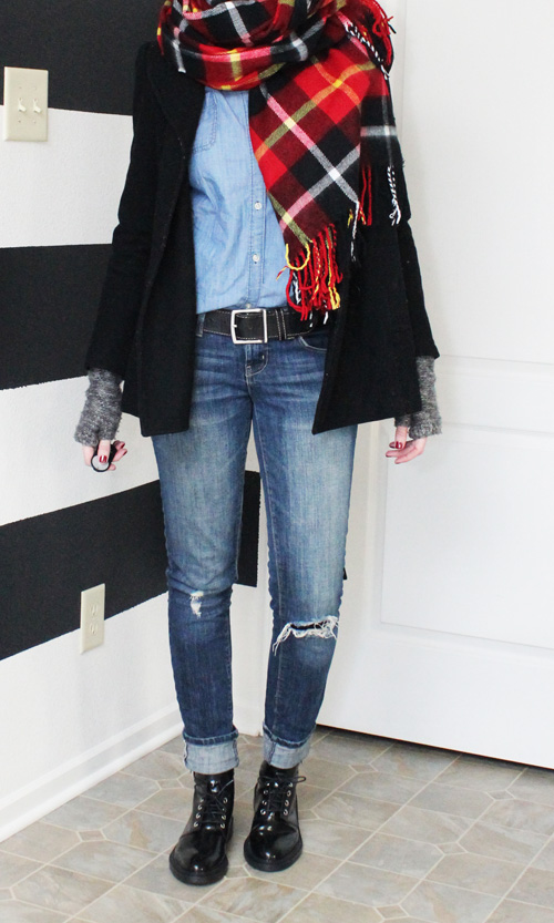 Winter layering done well.