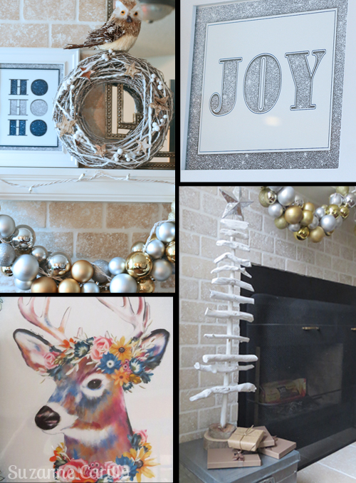 Christmas mantel decorations and ideas.