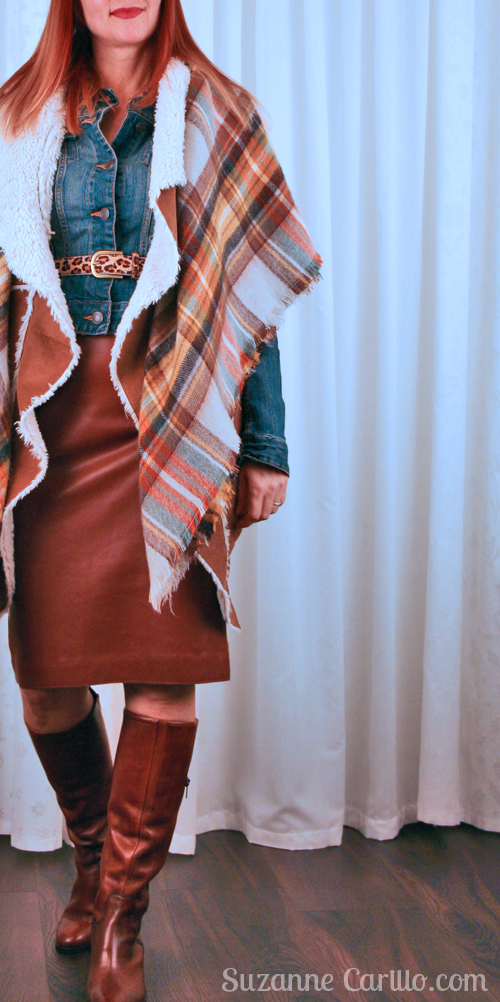 Layering clothes for winter.