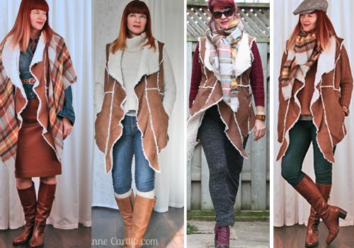 How to wear a long vest in winter 4 looks.