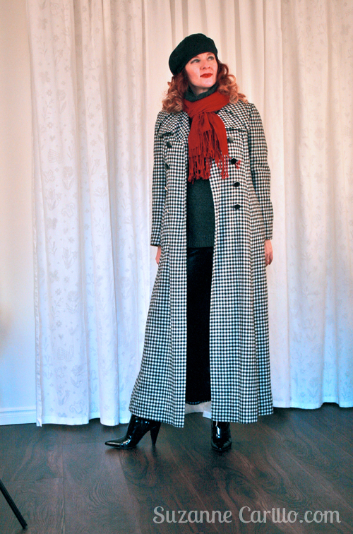 how to style a floor length coat for winter