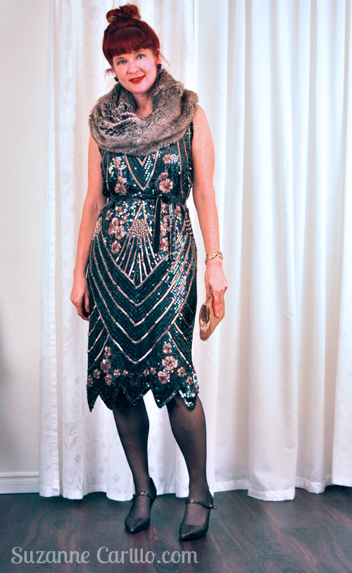 how to wear a vintage dress 1920's style suzanne carillo