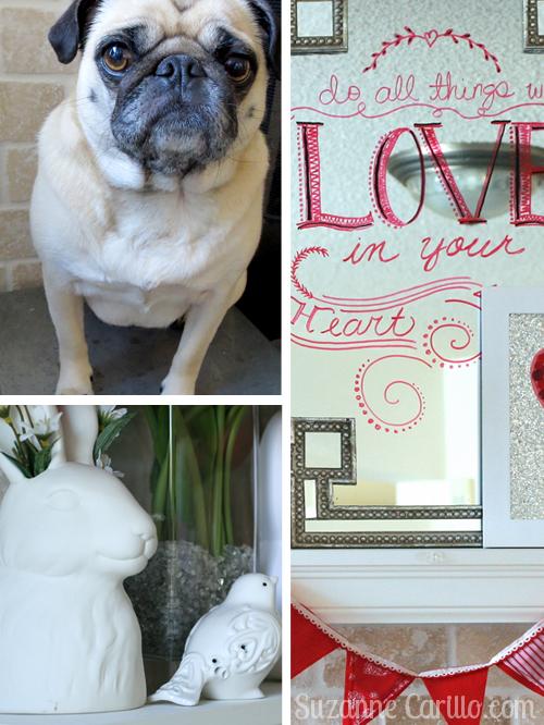 Valentine Fireplace Mantel decor ideas