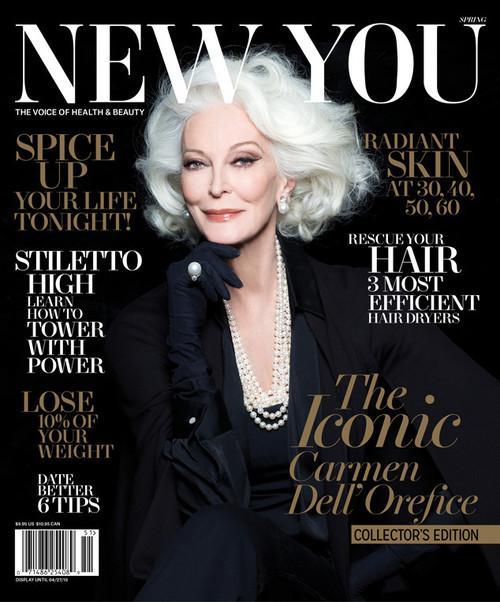 83 year old model Carmen Dell'Orefice