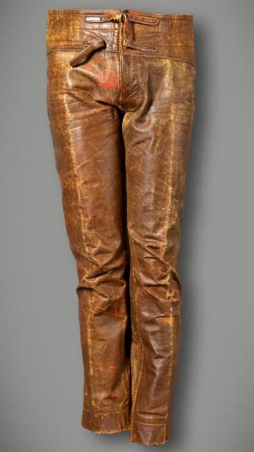 Jim Morrison bronze leather pants