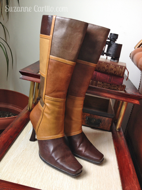 1970's style patchwork boots