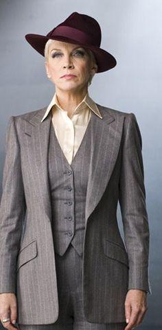 Annnie Lennox wearing menswear