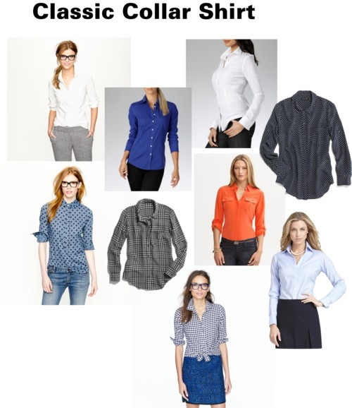 Every woman should own one classic collar shirt
