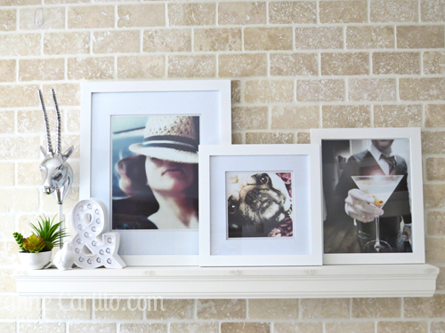 home decor with family photos