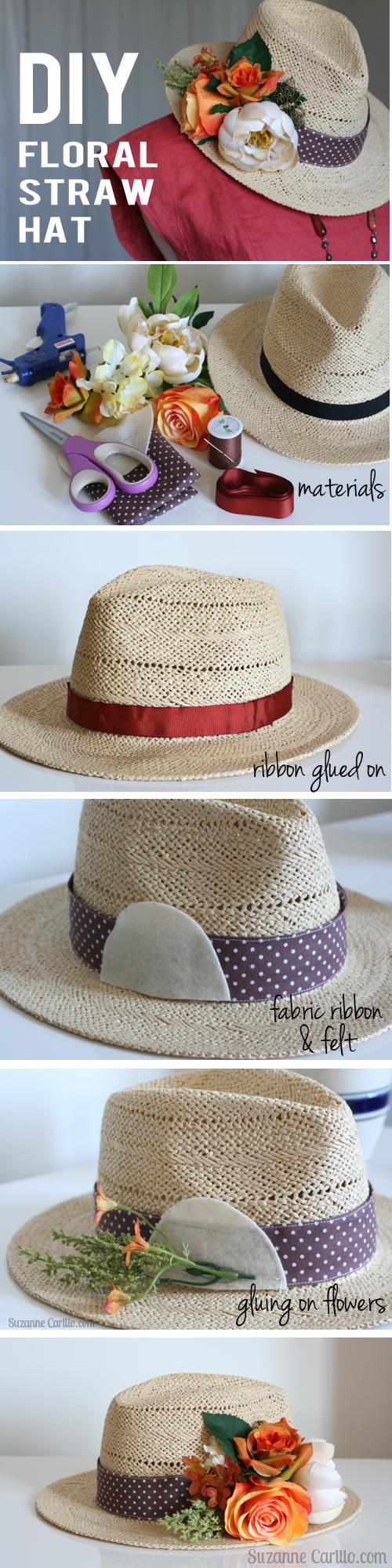 DIY floral hat