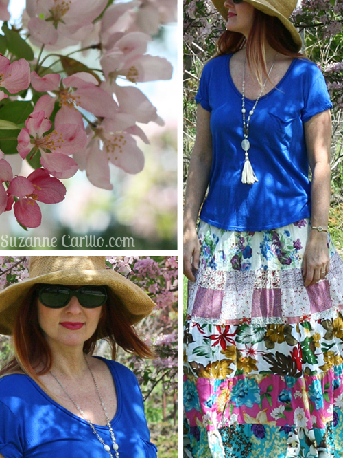how to wear a maxi skirt for spring over 40