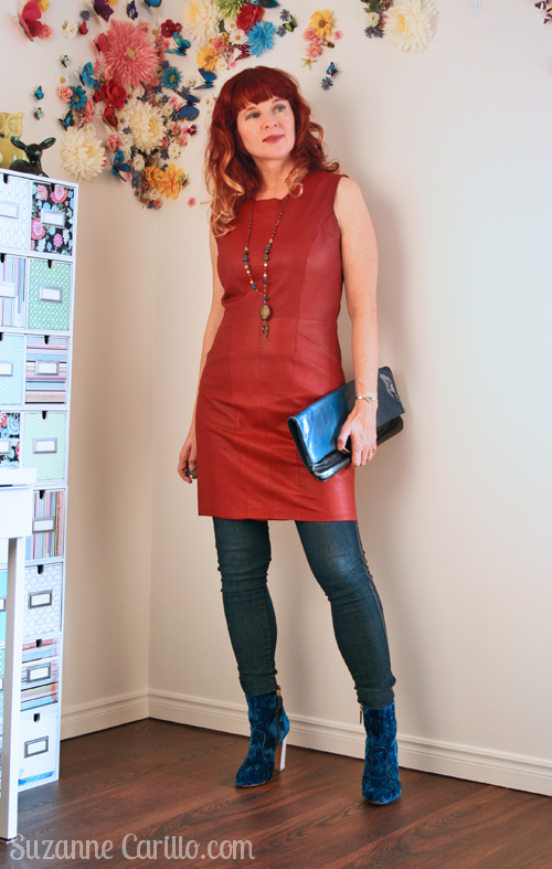 how to wear jeans with a dress over 40
