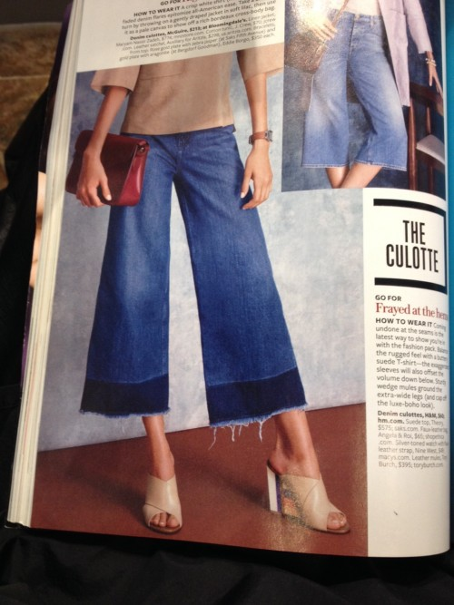 how NOT to wear culottes