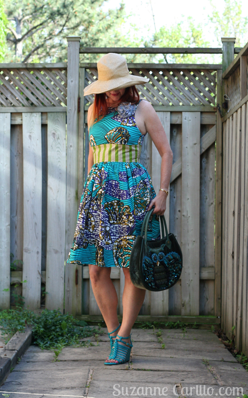 simple summer style for women over 40 fit and flare dress by anthropologie