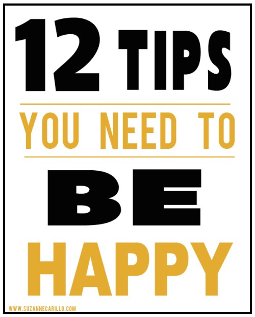 12 tips to be happier in life